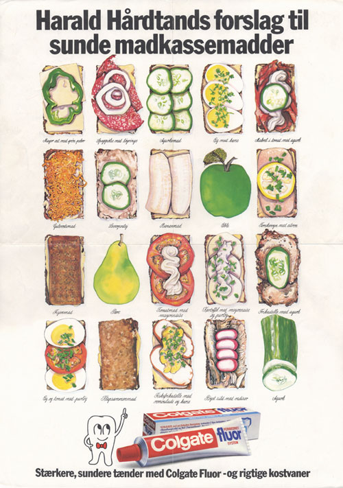Twenty different kinds of Danish lunch sandwiches.