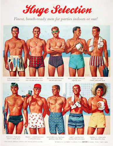 Huge Selection: finest beach-ready men, for parties indoors or out!