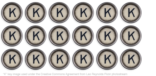Typewriter K key...OK, OK, OK.