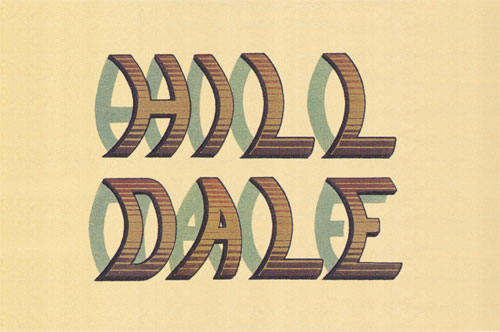 Over hill, over dale: curved type.