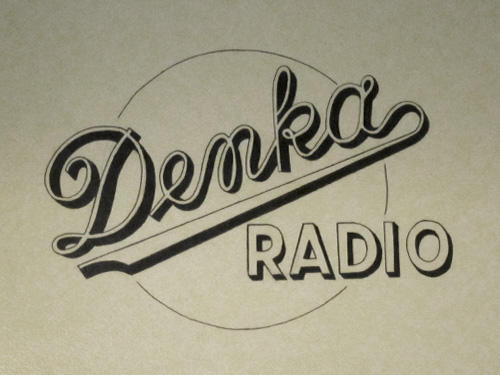 Dansk ArbejderMuseet - Denka Radio typography.