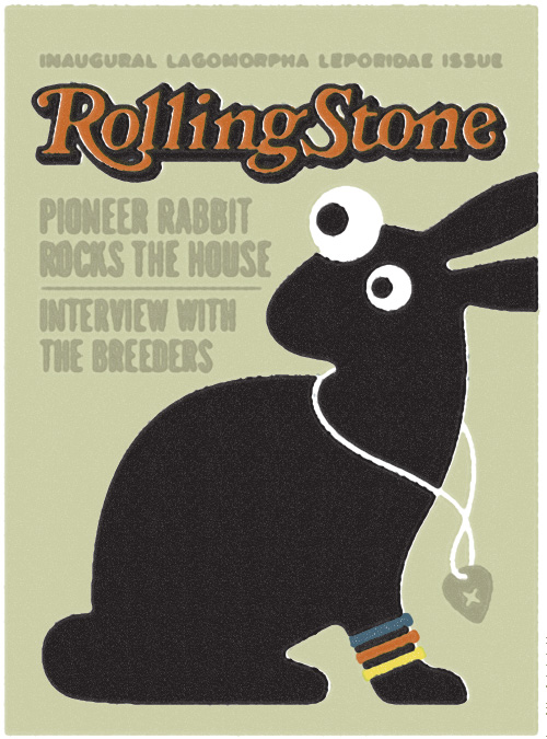 Maybe one day my pioneer rabbit will grace the cover of Rolling Stone Magazine for his wild shenanigans rocking out at Roskilde Festival or touring with the Breeders. Take that, Lady Gaga, David Bowie, Mick Jagger and Britney Spears!