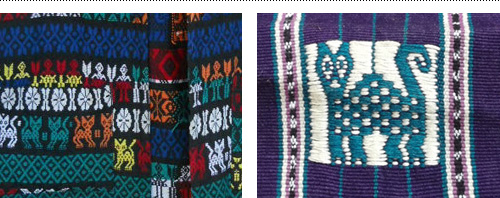 Client provided inspiration for local Guatemalan cat icon and embroidery.