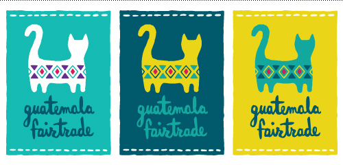 Guatemala Fairtrade logo series in tag format.