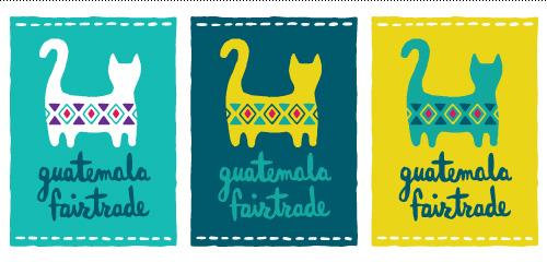 Guatemala Fairtrade logo series in tag format.