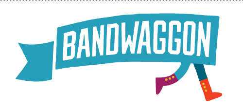 Final Bandwaggon Logo: go little flag, go!