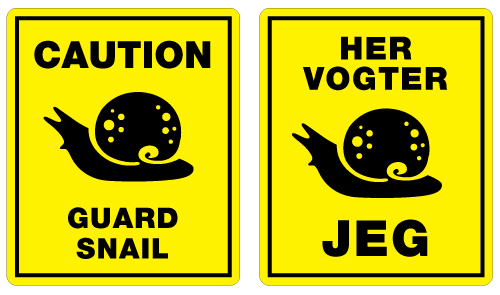 guard snail english danish