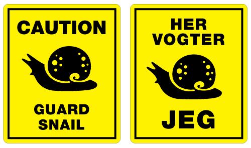 guard snail english danish