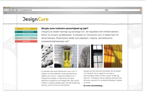 New DesignCure website design.
