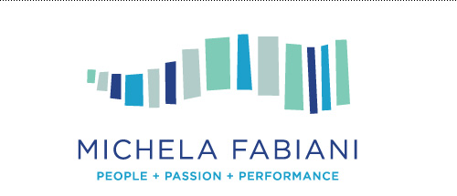 Business and life coach logo for Michela Fabiani.