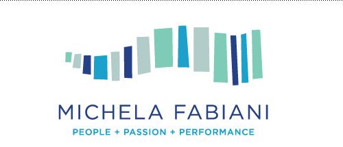 Business and life coach logo for Michela Fabiani.