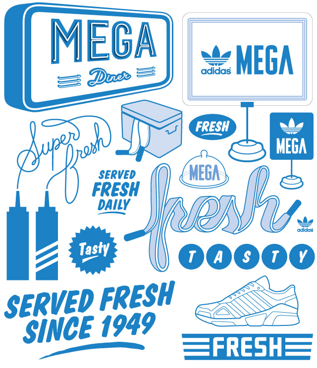 golpear gemelo Ocultación  typographic-illustration-adidas-mega – Bureau of Betterment