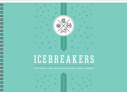 Icebreakers book cover design.
