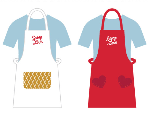 His and hers aprons.