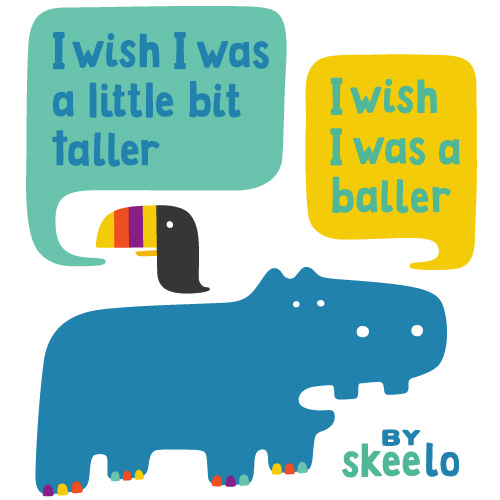 "I Wish rap lyrics by skee-lo reinterpreted by a toucan and hippo. ""I wish I was a little bit taller, I wish I was a baller."""