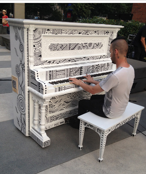 One of the pianists taking Scarlatti for a spin after the formal concert.