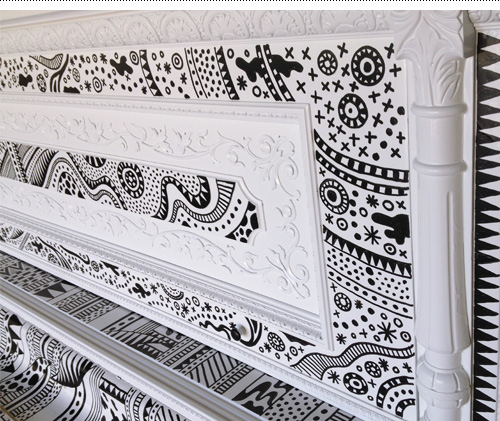 Upper panel detail.