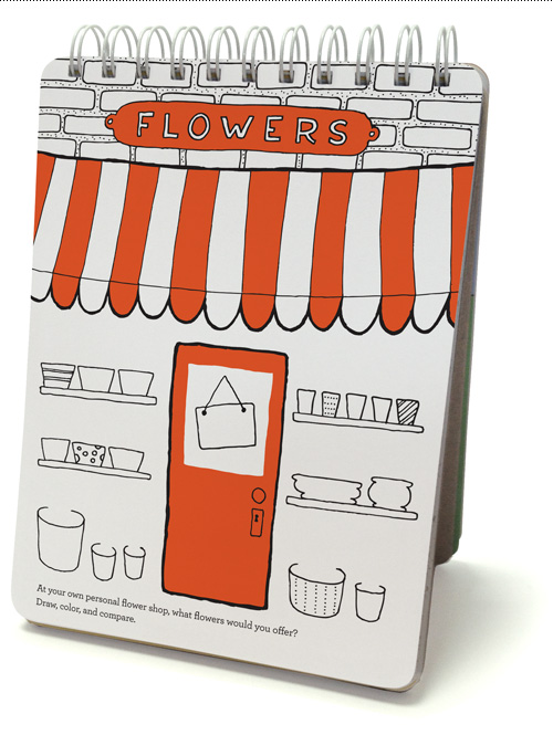 At your own personal flower shop, what flowers would you offer? Draw, color, and compare.