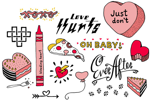 valentine day tattoos: love hurts, XOXO, ever after, oh baby, just don't, bleeding heart, and more!