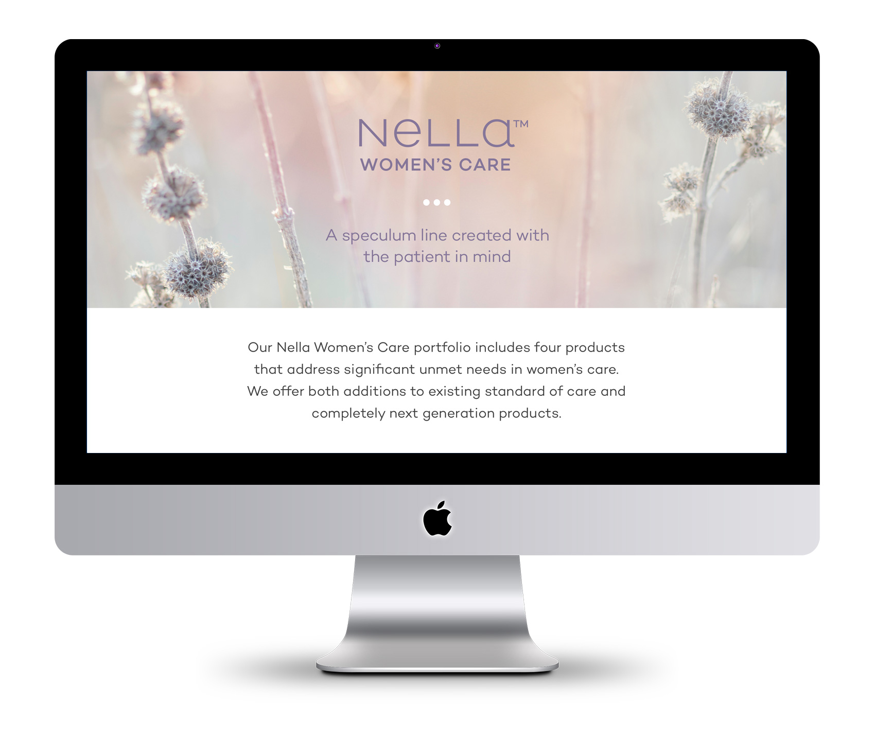 Product page for Nella, Ceek's first product for women's healthcare.