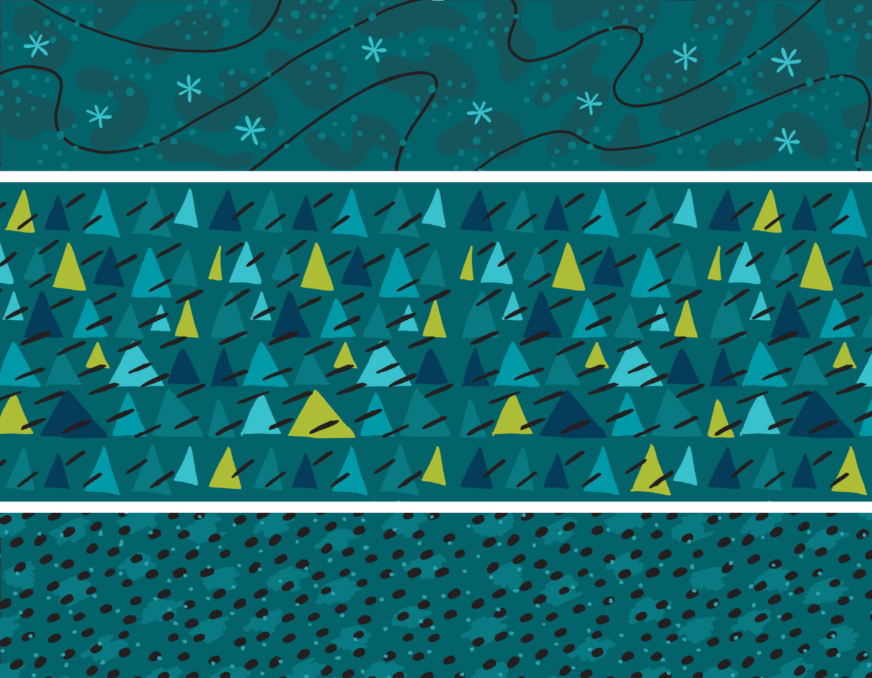 pattern & illustration tests for Umpqua bank: landscape patterns