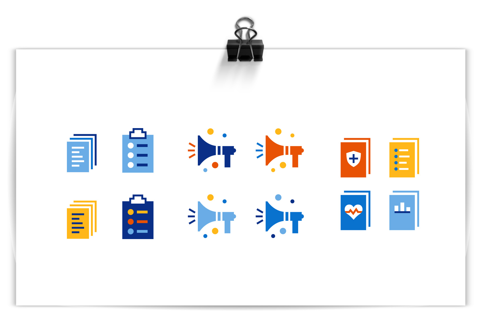 color variations on icons for healthcare industry