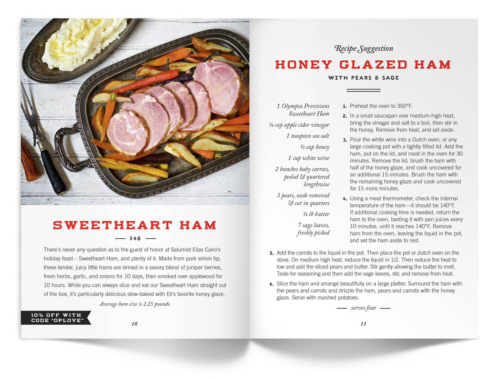 Eli Cairo's honey glazed ham recipe.