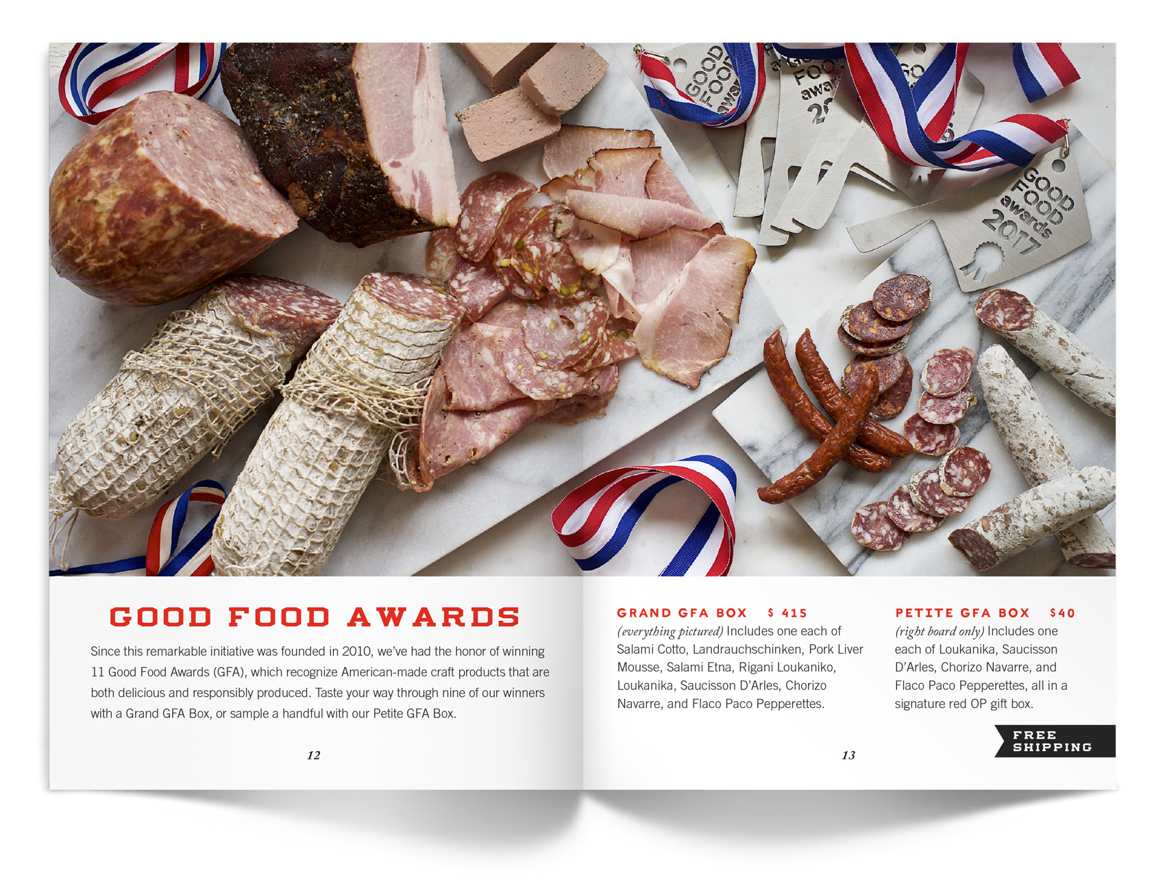 Olympia Provisions spread of Good Food Award winning charcuterie.