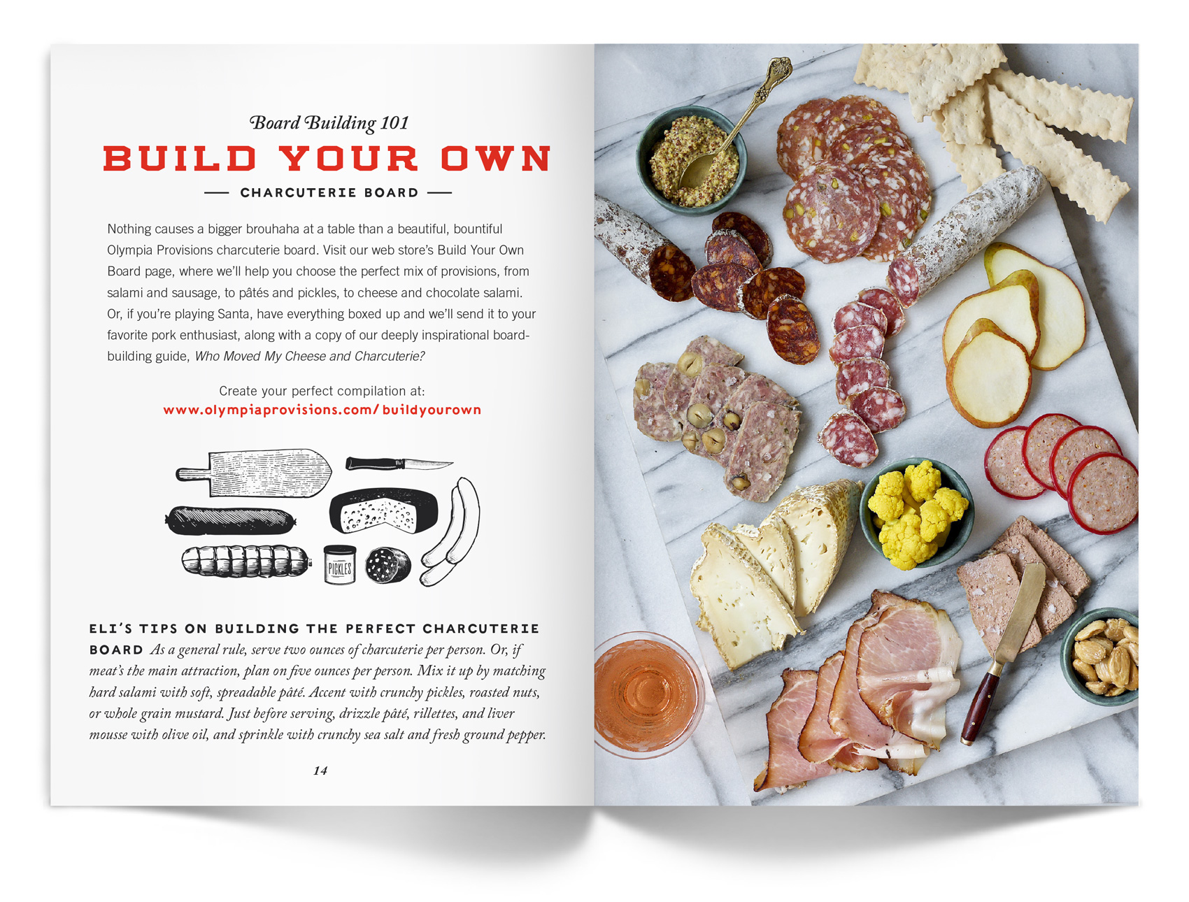 Build your own charcuterie board with Olympia Provisions.