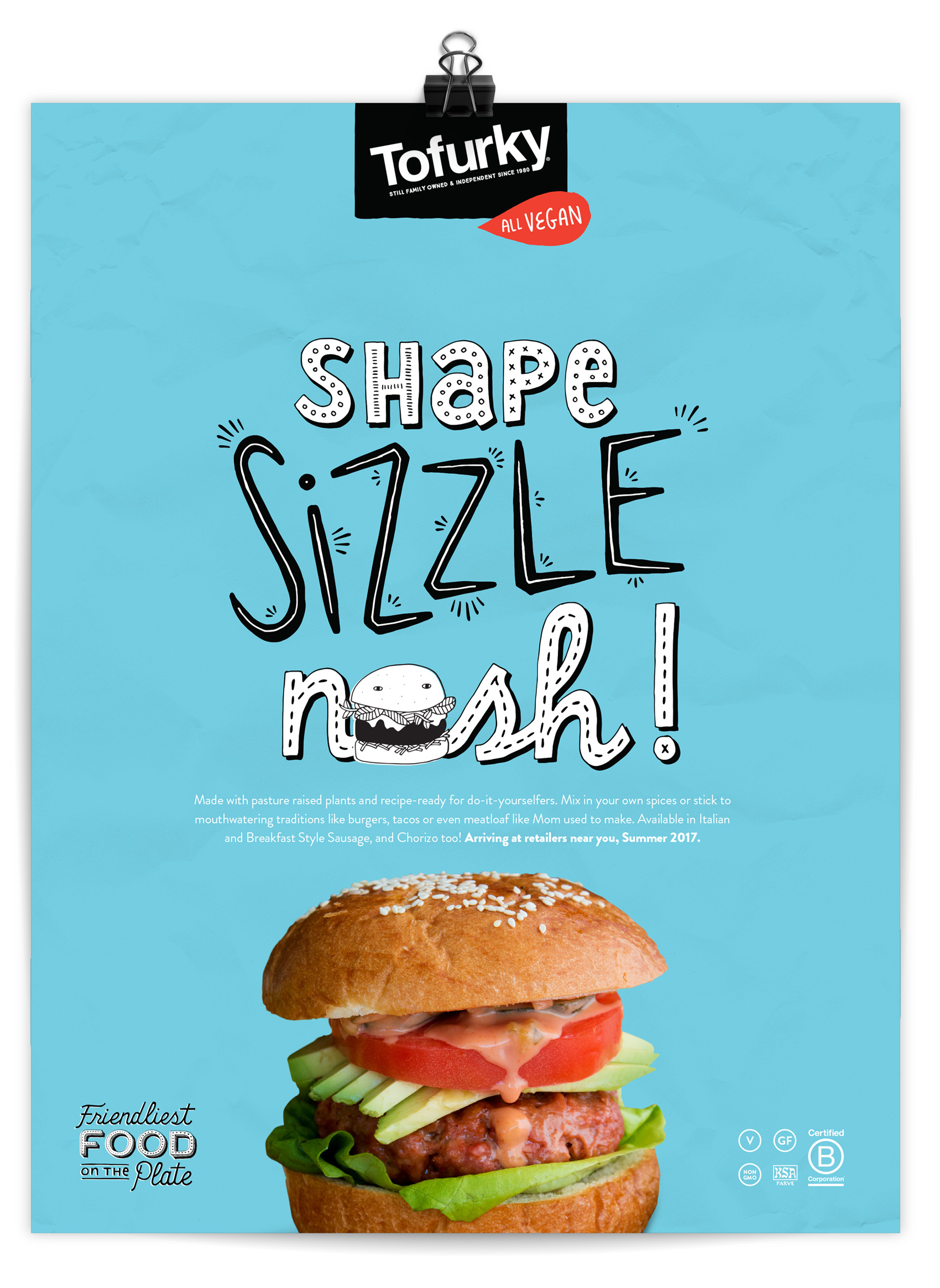 Tofurky DIY burger new product ad.