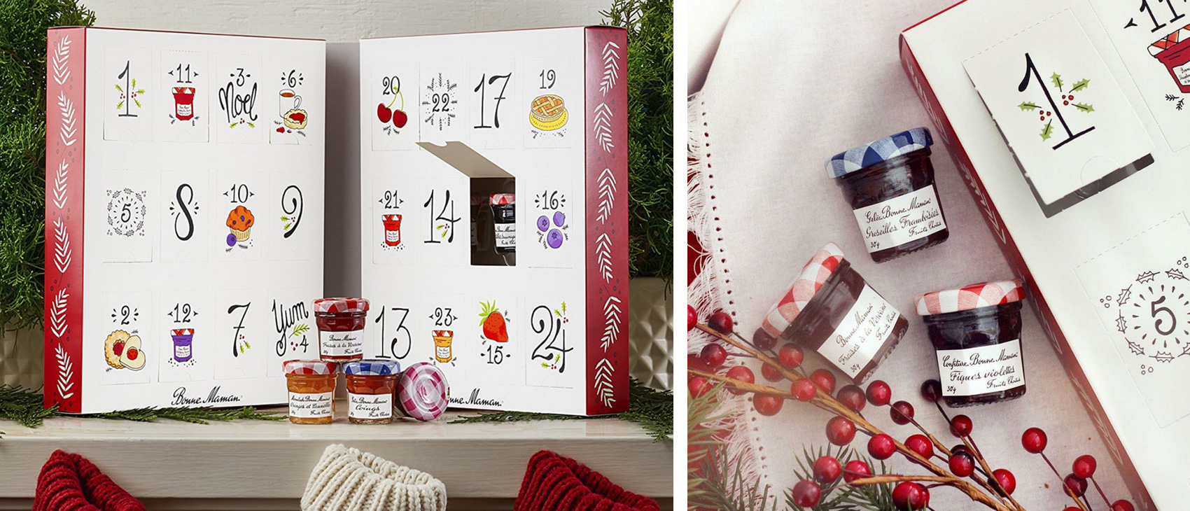 The Bonne Maman advent calendar is so festive you want to put it on your mantle!