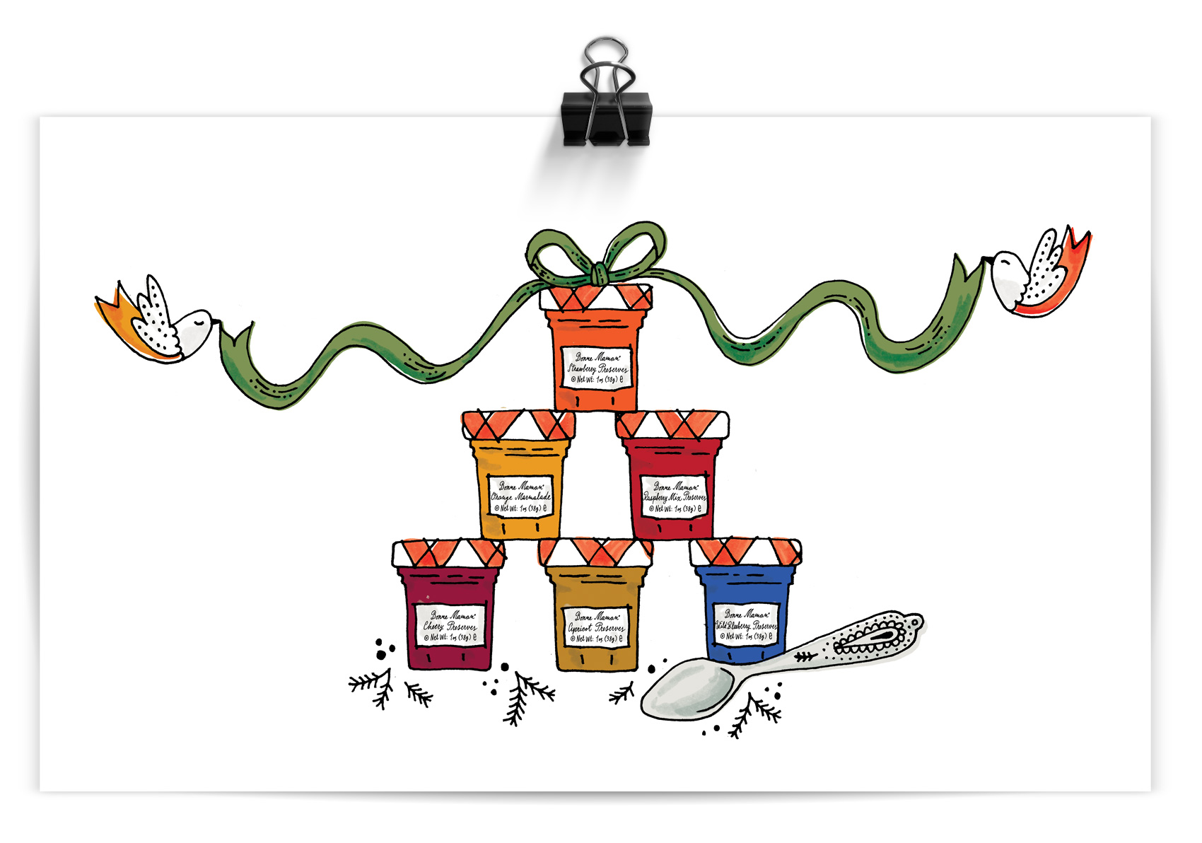 A very Cinderella inspired stack of french preserves from Bonne Maman.