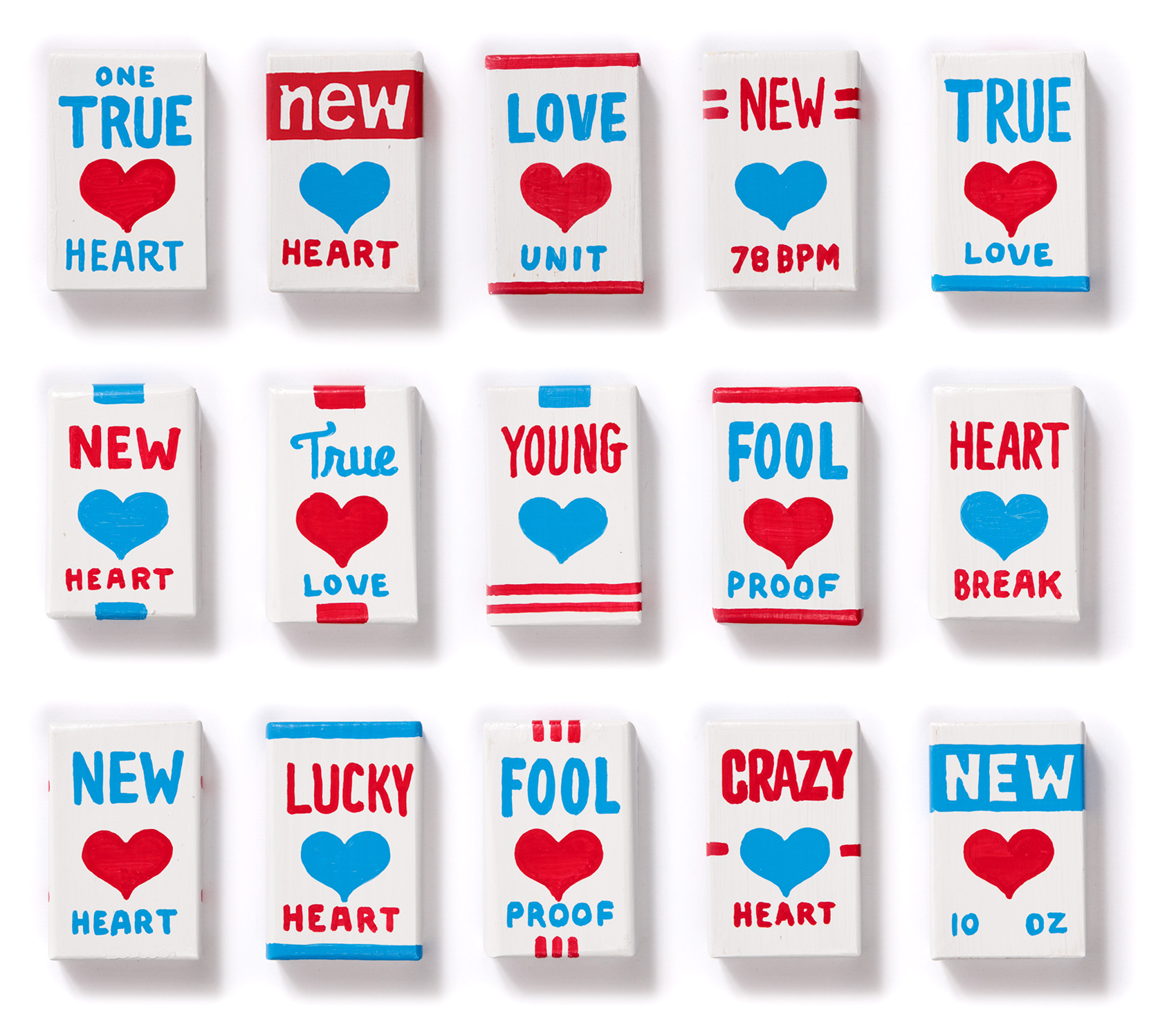 """Magnetic Fields """"I think I need a new heart"""" new heart packages - fronts, batch 2"""