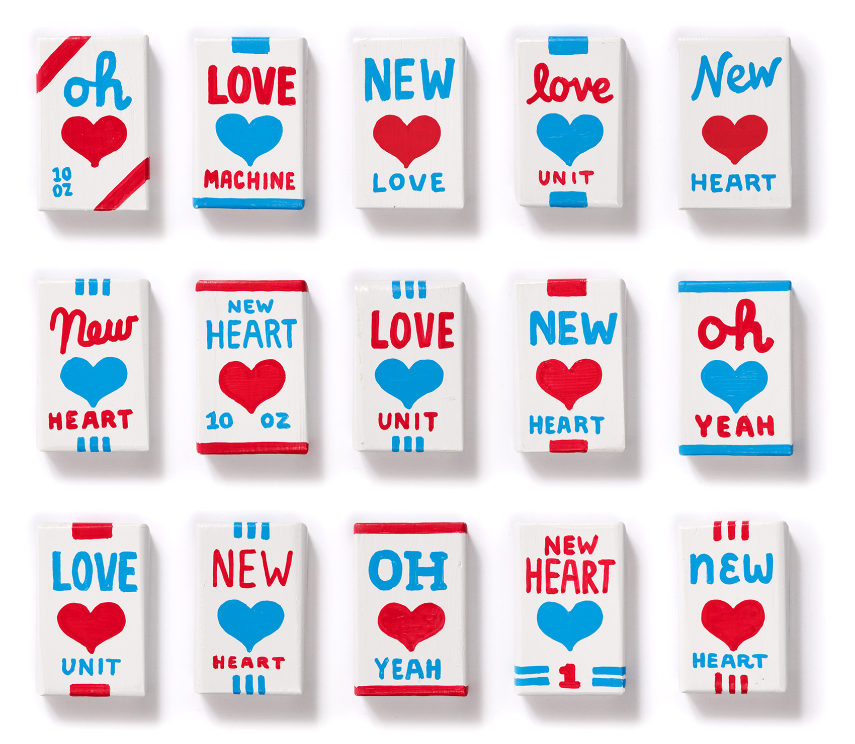 """Magnetic Fields """"I think I need a new heart"""" new heart packages - fronts, batch 4"""