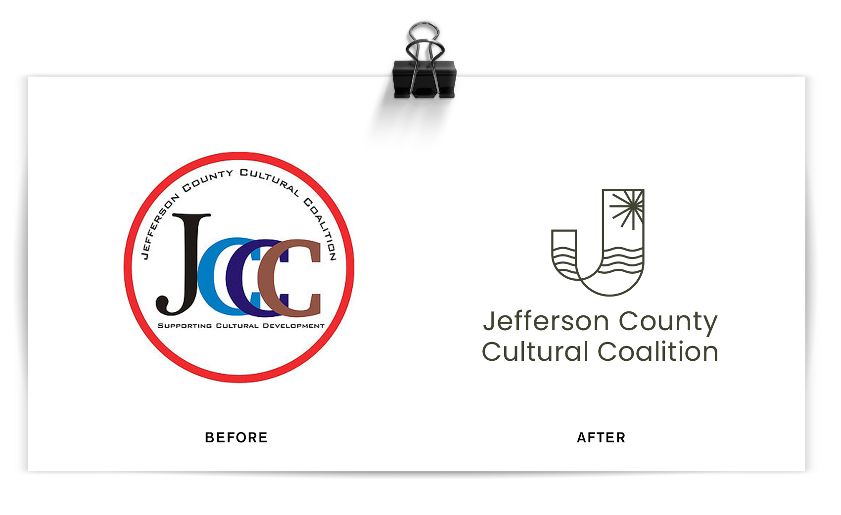 Logo redesign for Jefferson County Cultural Coalition.