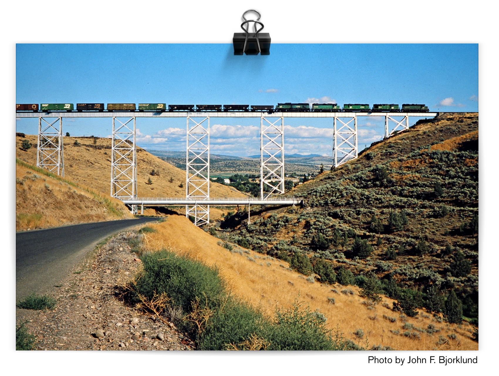 Willow Creek trestle in Madras, Oregon.